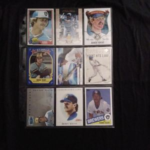 (9) Different ROBIN YOUNT Baseball Card Lot Milwaukee Brewers for Sale in Redmond, WA