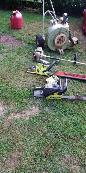 Chainsaw Power Edger. Hedge Trimmer Push Leaf Blower for Sale in Woonsocket, RI