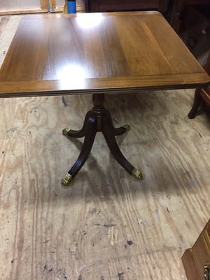 "Beautiful Walnut Tilt Top Table26 3/4""tall27 1/4""square.1leg has been repaired &in very good condition for Sale in Waynesboro, VA"