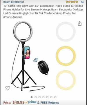 Expandable Ring Light <see other pictures for sizes> for Sale in Windsor, CT