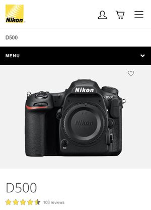 Nikon d500 DSLR Camera for Sale in Richmond, VA