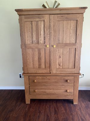 Solid oak armoire for Sale in York, PA