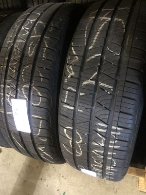 Matching pair (2) Continental 215 60 17 tires for only $48 each with FREE INSTALL!!! for Sale in Lakewood, WA