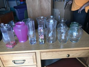 15 flower vases - sold together for Sale in Colorado Springs, CO