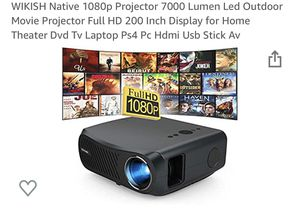 Wikish native 1080p 7000 lumen projector for Sale in Bakersfield, CA