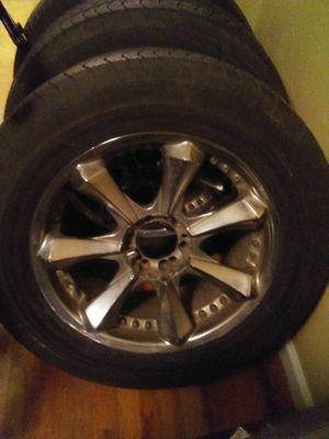 4 Goodyear tires w/ custom rims for Sale in Billings, MT