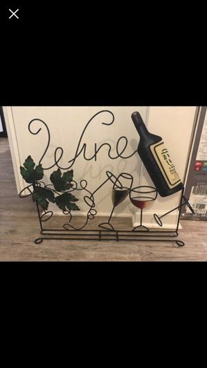 Iron wine glass and bottle holder for Sale in Knoxville, TN