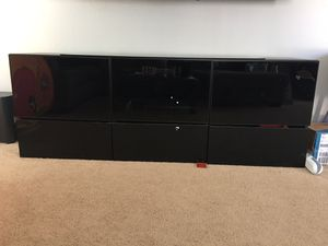 """Black Modern TV Stand - 71"""" for Sale in San Jose, CA"""