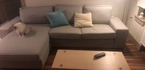 IKEA KIVIK Sectional with Coffee Table and throw pillows for Sale in Houston, TX