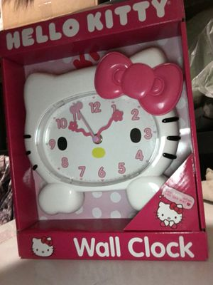 Little girls hello kitty wall clock for Sale in Baltimore, MD