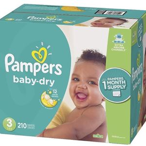 Pampers Baby Dry size 3 diapers- pañales for Sale in Downey, CA