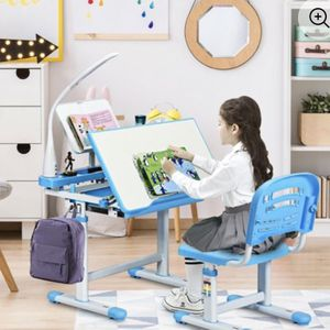 Adjustable Kids Desk Chair Set with Lamp and Bookstand for Sale in San Marcos, CA