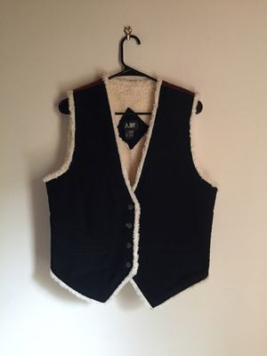 AJNY Genuine Leather Sheep Fur Vest for Sale in Lancaster, CA