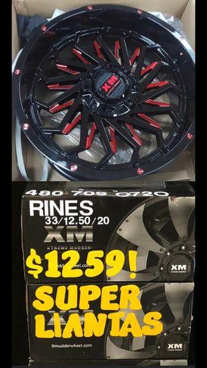 RINES 20X10 Y LLANTAS 33 1250 20 for Sale in Phoenix, AZ