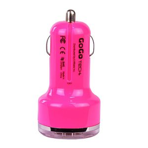 Tech & Go 3.1A Dual Port USB Car Charger (Pink) for Sale in Fremont, CA