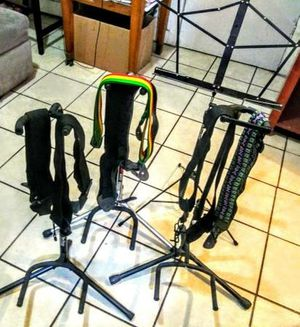 Guitar Stands and Straps for Electric, Bass, or Acoustic New Condition for Sale in Los Angeles, CA
