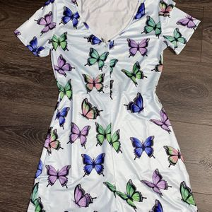 Butterfly Light Blue Short Sleeve Onesie for Sale in Crewe, VA