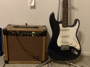 fender guitar and staggs amp for Sale in Riverside, CA