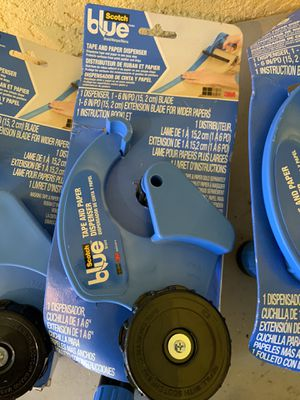 5 sets blue scotch tape and paper dispenser 50 only firm price for all 5 sets for Sale in Plant City, FL