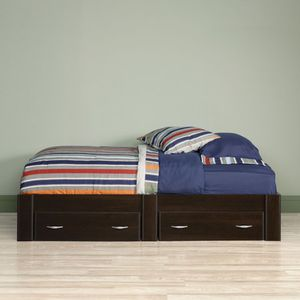 Twin Size Storage Bed Frame, Cherry Finish for Sale in Fountain Valley, CA