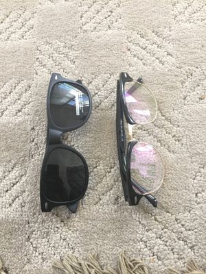 Dark sunglasses and transparent sunglasses for Sale in St. Louis, MO