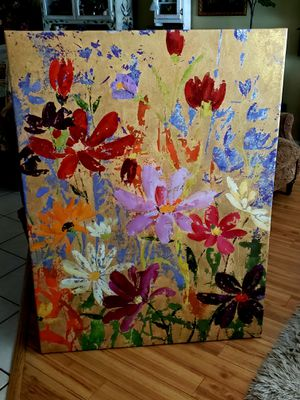 Gorgeous Flower Painting On Canvas for Sale in Anaheim, CA