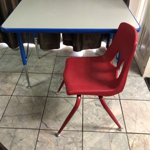 Preschool Table With One Chair $60.00 for Sale in Richardson, TX
