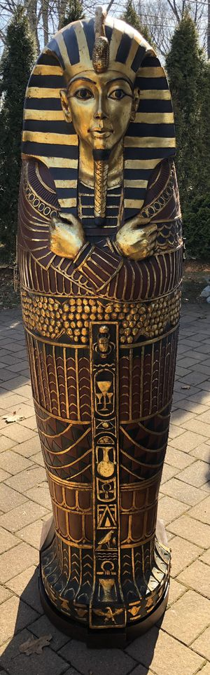 "Mummy Sarcophagus STORAGE BOOKCASE 75"" Ancinet Egyptian King Tutankhamen Coffin for Sale in River Edge, NJ"