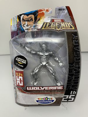 "Vintage Limited Edition 25th Silver Anniversary Wolverine Action Figure (Toys ""R"" Us Exclusive[RIP]) for Sale in Washington, DC"