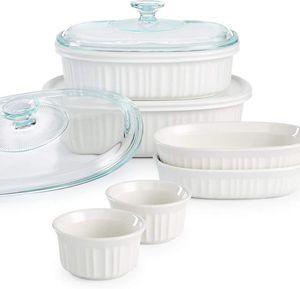 Corningware French White 10-Pc. Bakeware Set $44 for Sale in Falls Church, VA