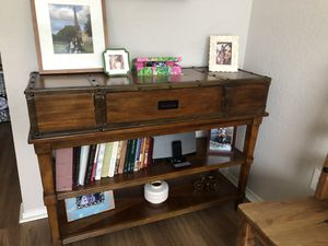 48 inch brown console table for Sale in Lutz, FL