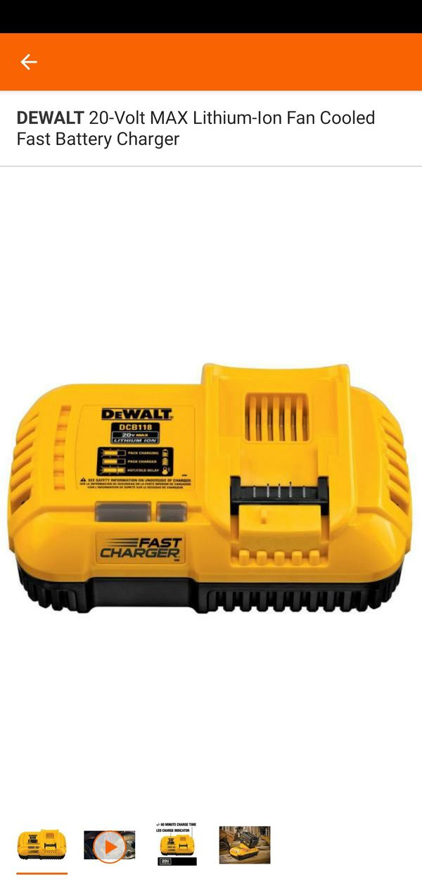 FLEXVOLT® 20V/60V MAX* batteries. The charge rate is 8 amps for premium batteries and 4 amps for compact batteries.