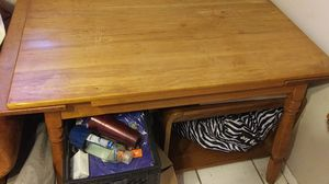Expandable custom made dining room table and chairs for Sale in Brandon, FL