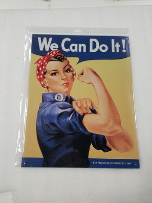 We can do it rosie riveter metal sign for Sale in Vancouver, WA