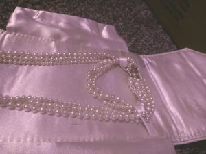 Pearl necklace and bracelet beautiful with a 14-karat gold latch for Sale in Pasco, WA