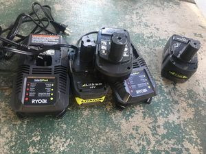 Ryobi chargers & batteries for Sale in Modesto, CA