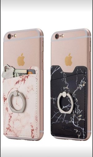 New! 2 finger ring and cell phone stick on wallet for Sale in Germantown, MD