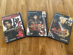 Onimusha Lot 1,2,&3(Sony PlayStation 2 PS2) for Sale in Redlands, CA