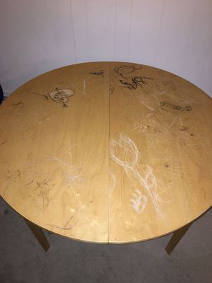 Free Large table ikea jussi/bjursta with extension for Sale in Seattle, WA