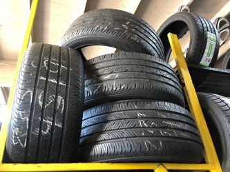 Continental 235-45-19 Tire Set 75% To 80% Life, Best Offer 180 includes installation and balancing English and Spanish spoken for Sale in Long Beach,  CA