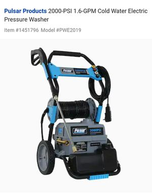 Pulsar PWE2019 2000psi Electric Washer for Sale in Richmond, VA