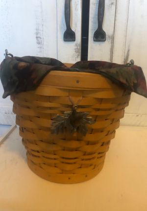 Collectible Longaberger Autumn Leaf Pail with liner for Sale in San Tan Valley, AZ