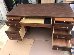 Complete solid wood desk all needful parts for Sale in Raleigh, NC