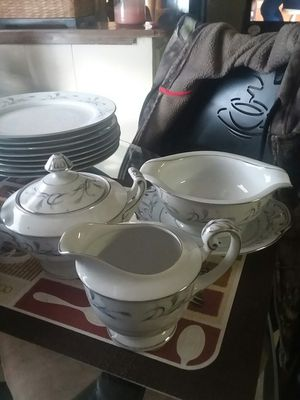 Antique Fine China Set. Harmony House Platinum Garland for Sale in Chesapeake, VA