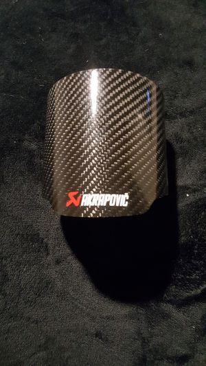 Universal 4.5'' 2 x Carbon Fiber Exhaust Muffler Pipe Tip Exhaust Tip Cover For Car for Sale in Seattle, WA