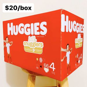 Size 4 (22-37 lbs) Huggies Little Snugglers (66 diapers) - $20/box for Sale in Anaheim, CA