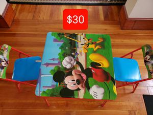 Kids Table with 2 chairs for Sale in Woonsocket, RI