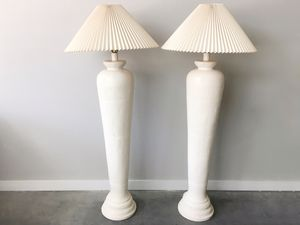 pair of vintage plaster column floor lamps. for Sale in Seattle, WA