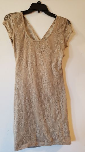 Dusty gold lace, stretch short. Size large for Sale in Hayward, CA