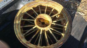 1939 John Deere rear tractor steel spoke rims. for Sale in Sedalia, CO